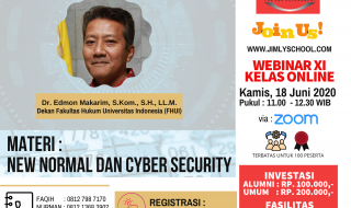 JOIN NOW - WEBINAR 11 KELAS ONLINE - NEW NORMAL DAN CYBER SECURITY