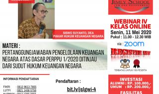 JOIN NOW - WEBINAR 4 KELAS ONLINE - Siswo Suyanto, DEA